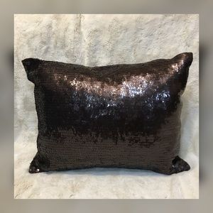 West Elm Sequin Accent Pillows In Brown